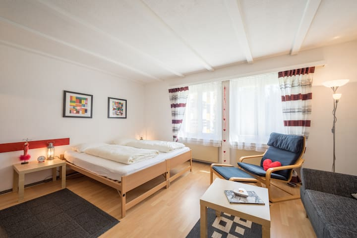 Lovely studio right next to the valley station in Laax (Signina 3-16)