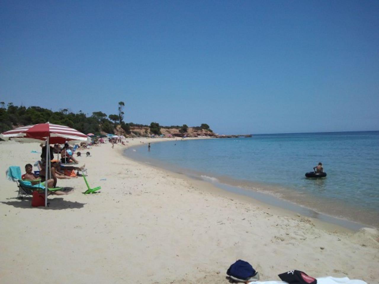 The local beach during summer.