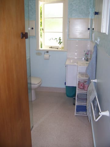 Shared bathroom + we also have another toilet & hand basin