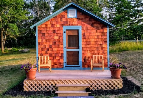 Enchanting Cedar-Shingled Tiny House, Bluebird