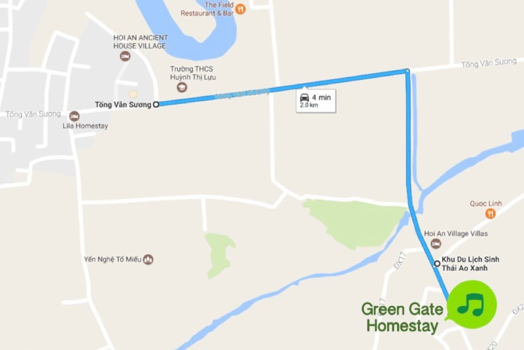 To reach our place ( Green Gate homestay ) please add this coordinate  to your map to be able to see the direction : 7P7CV9H7+84