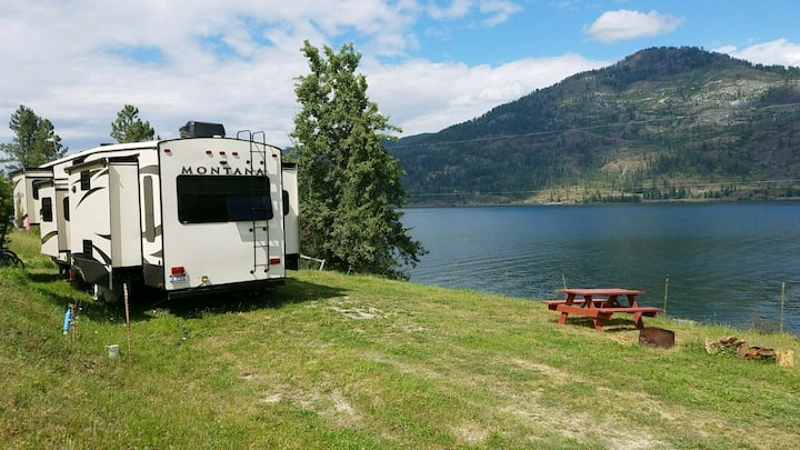 RV site on Pend Oreille lakefront ranch
