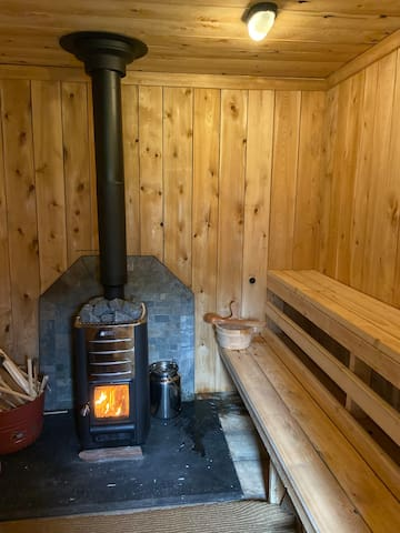 Finnish steam sauna available for guest use.