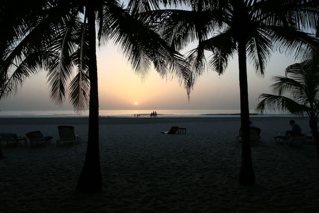 Du parc vous avez accès a la plage