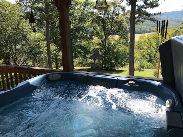 Secluded Ozark Mt Cabin with Hot tub