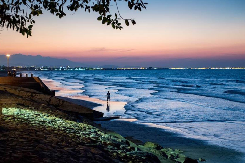Beautiful sunset at Shatti Al Qurum