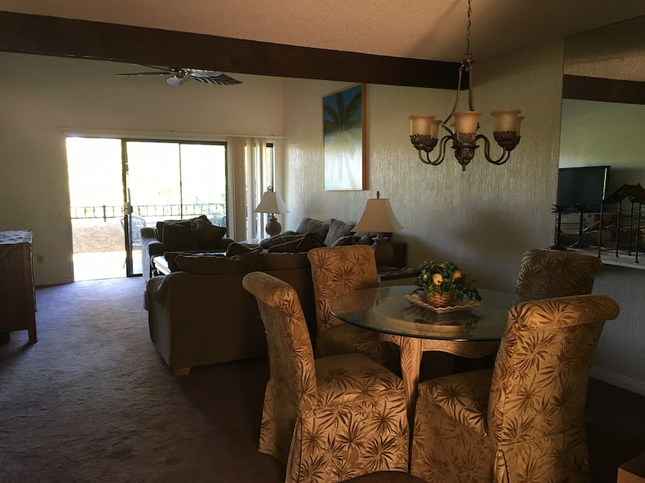 This Charming condo is upstairs with a great view of the lush grounds of The Oasis Resort
