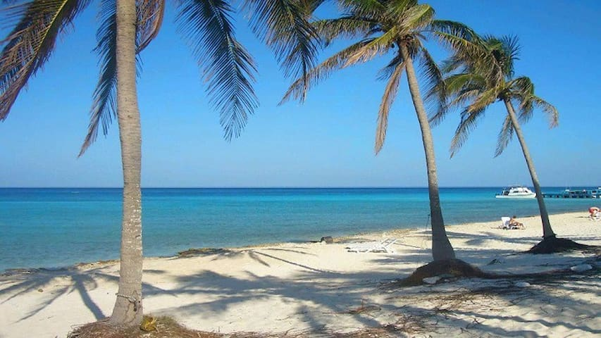 Playa de Guanabo just 200 meters from the house for rent.