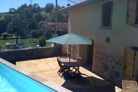 Maison de campagne avec piscine. - Réaumont