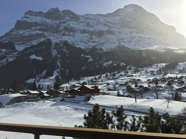 Traditional mountain apt- spectacular Eiger views