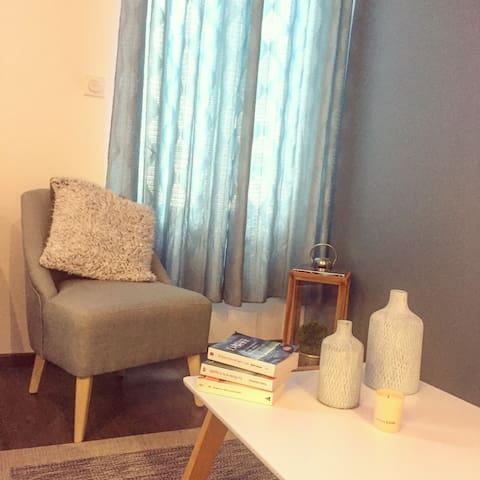 Chambre privée dans Appartement REIMS CENTRE GARE - Reims - Apartment