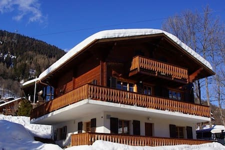 Luxury Chalet in quiet old Swiss town in Wallis - Fiesch - Lomamökki