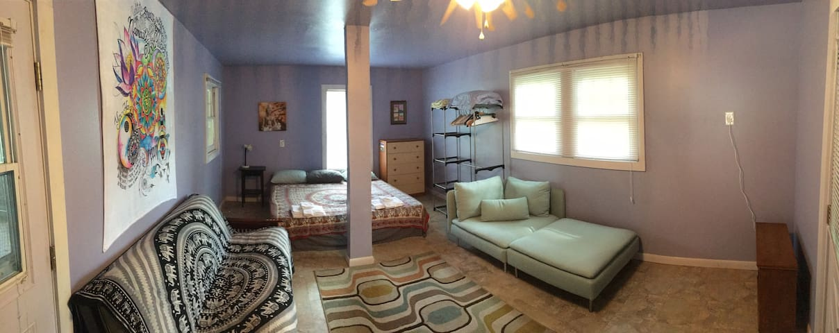 Spacious, private room and entrance near downtown