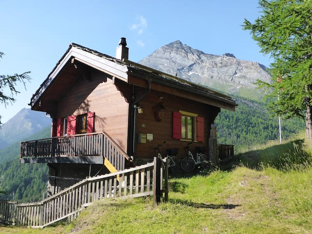 Gemütliches, sonniges Einzelchalet mit Bergsicht