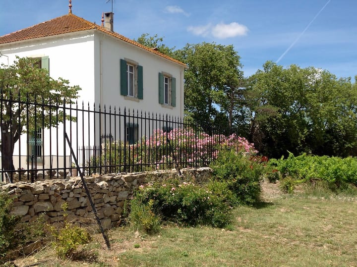 Old French house with swimming pool