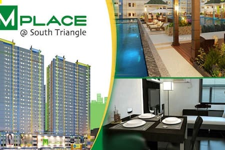 1BR Fully Furnished/ Mplace @ South Triangle, Q.C - 奎松城 - 公寓