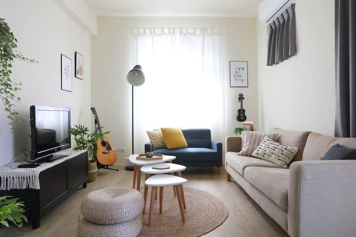 My Sweet Home北歐風小宅|1-6人入住|整個房源|廚房洗衣機|Netflix|Wi-Fi