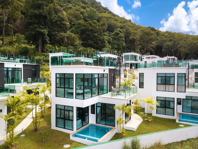 Private Seaview pool villa A3 on Kamala mountain