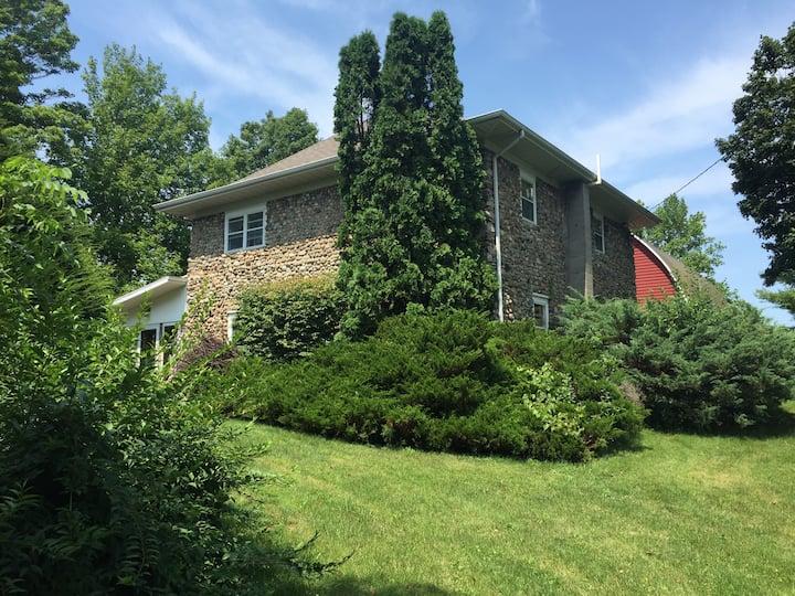Centennial Stone Farmhouse in Harbor Country