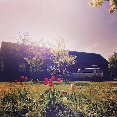 Gårdshus med sovloft & trädgård (3)