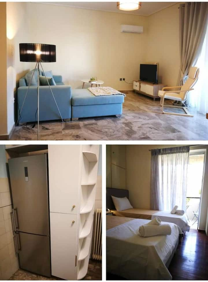 Perfect location, cosy apartment at Elliniko Metro