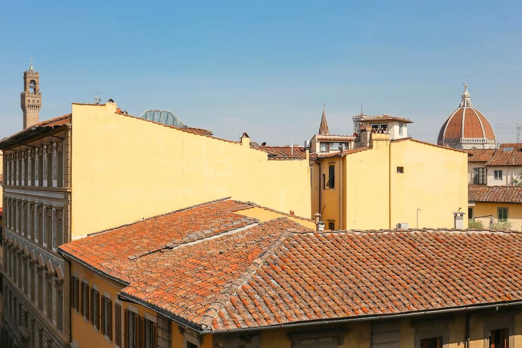 View from the back terrace on the Dome and Palazzo Vecchio