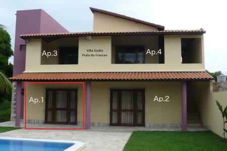 1 Apt. de 4 em linda casa Praia do Frances App.n.1 - Marechal Deodoro - Huoneisto