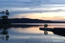 Enjoy the sunset on our dock! photo cred- Maintenance staff