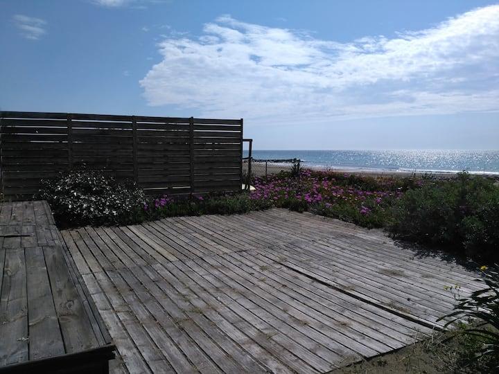 Villa avec jardin - accés direct à la plage