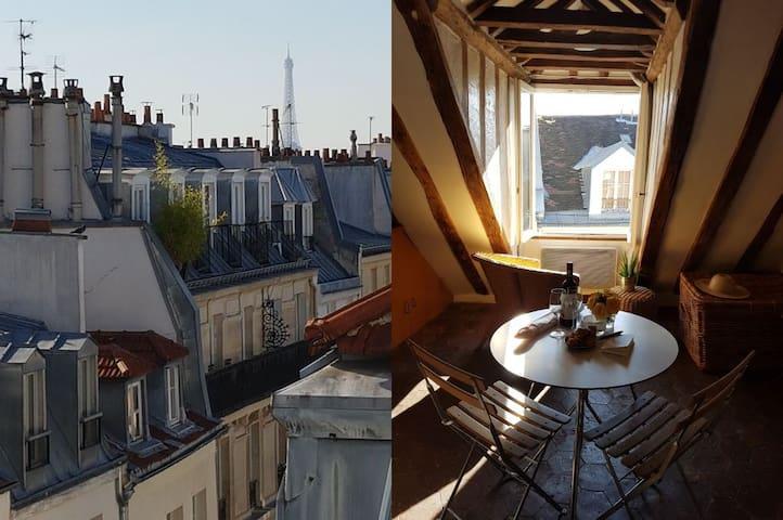 Montorgueil, Charme & Vue Tour Eiffel ! - ปารีส