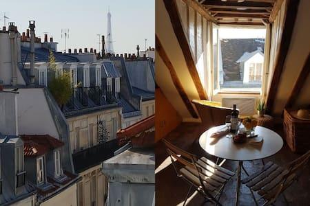 Montorgueil, Charme & Vue Tour Eiffel ! - Paryż - Apartament