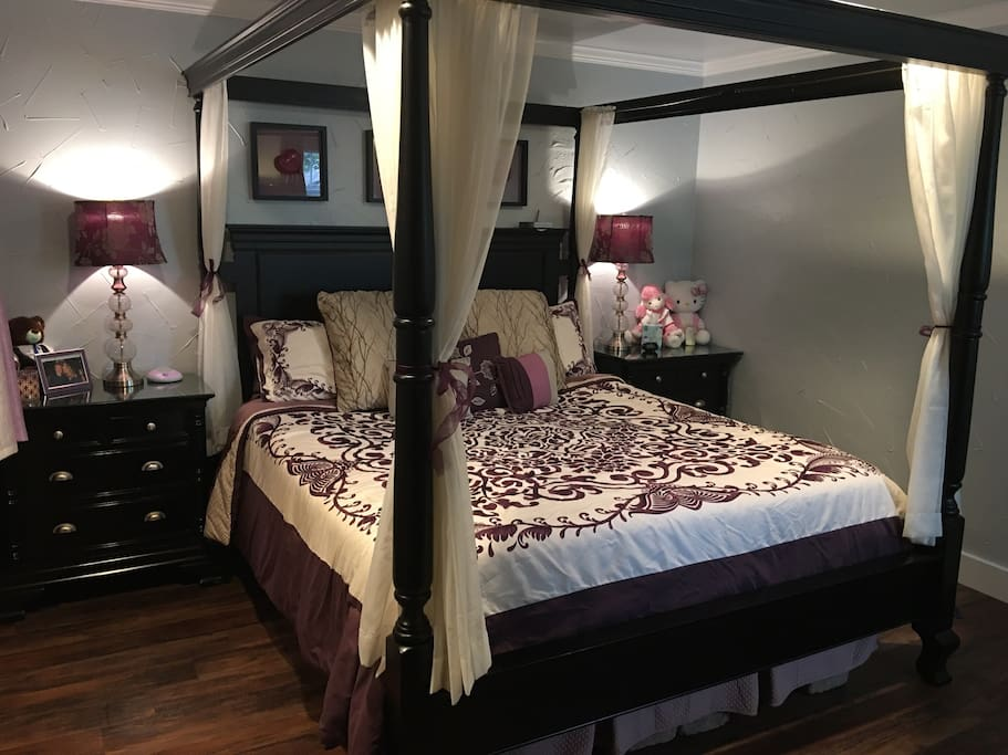 Large bedroom with California King Bed!