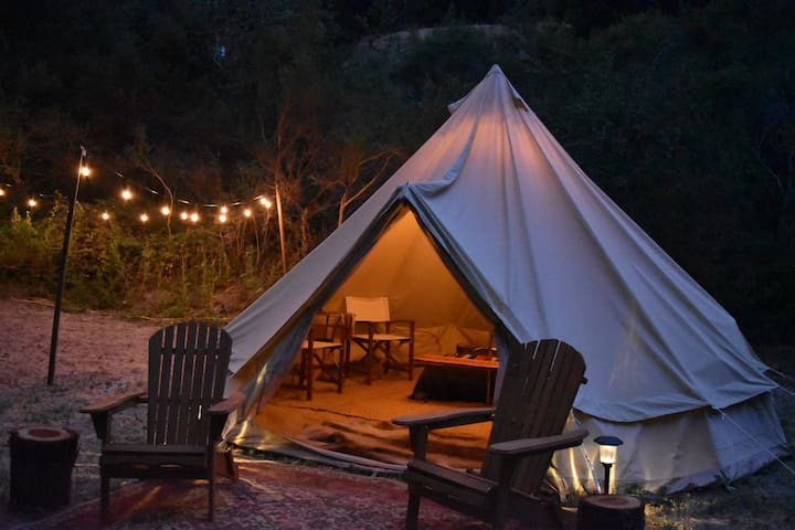 Private Luxury Glamping Tent, Designer Decorated - Santa Cruz - Stan