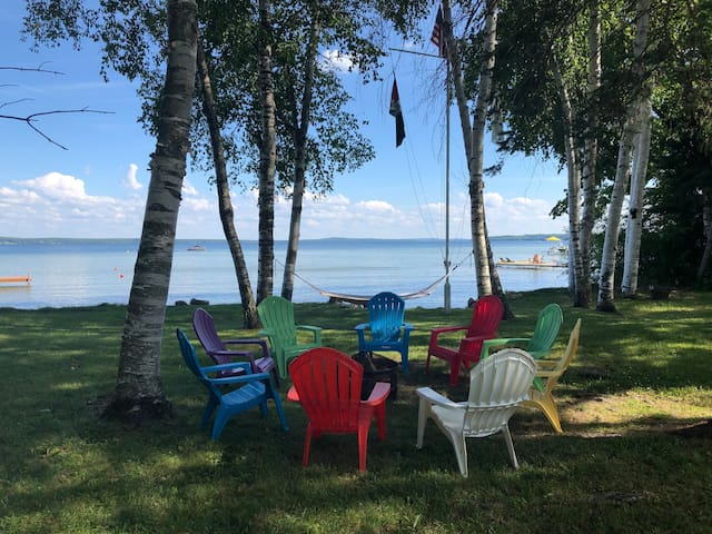 Secluded location at NW corner of Burt Lake