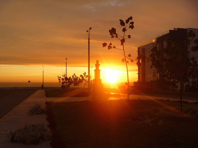 Parque Olaya, walk to the beach