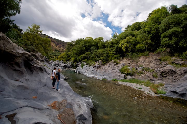 Palmento sul fiume Alcantara