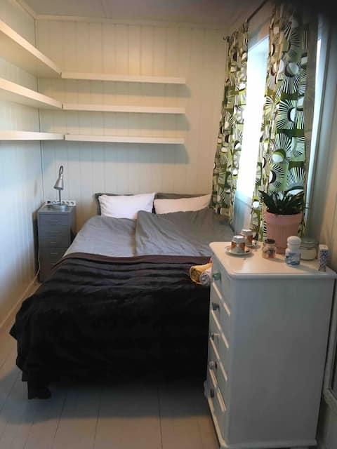 Koselig rom i leilighet med musikk og glede