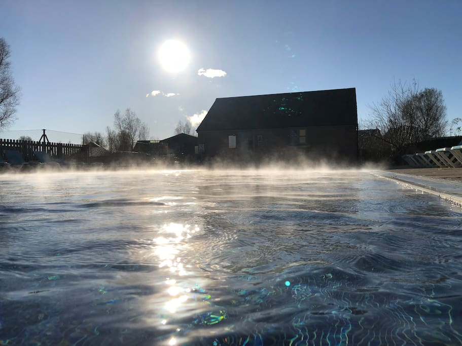 Outdoor pool heated all year round!