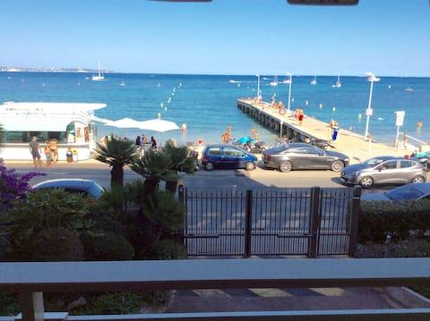 Superb view sea cannes palm beach terrace parking