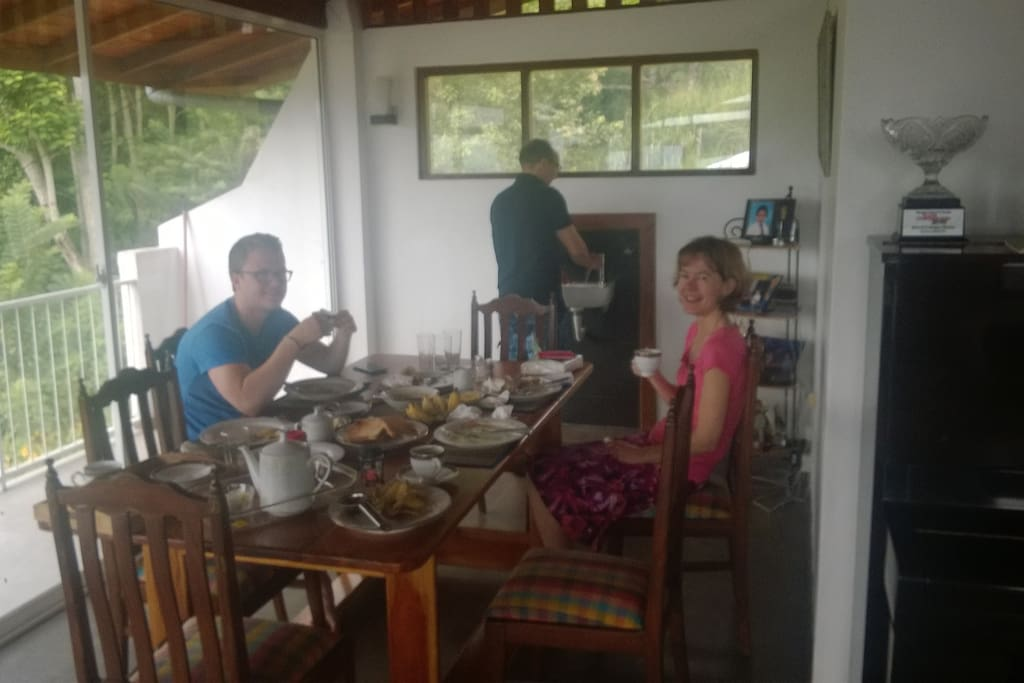 Guests having a lovely breakfast.