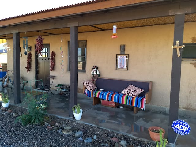 Strawbale adobe home