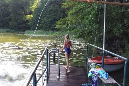 5000 m² am See, eigener Steg, Familien & Gruppen