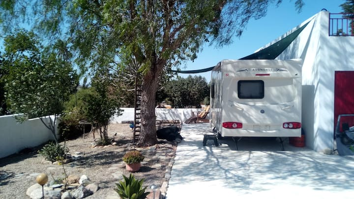 RV Caravan Mojacar with WiFi, Pool, & Garden