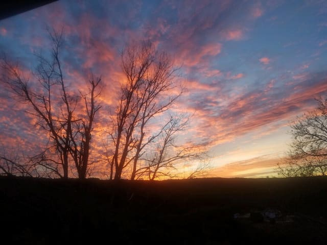 Sunsets from the private porch