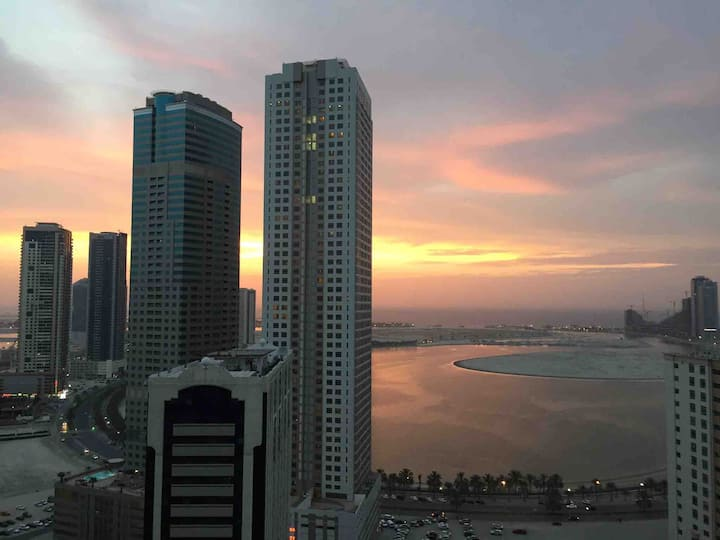Sharjah ... 10 mins away from Dubai airport.