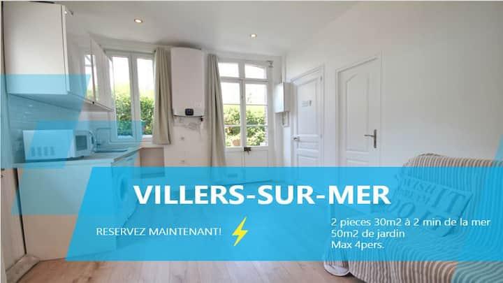 2 Pièces CENTRE Villers-sur-Mer + 50m2 de JARDIN