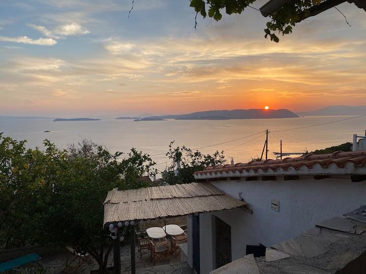 Klima: maisons  avec vue imprenable sur la mer