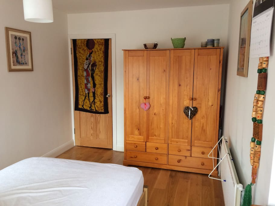 Large wardrobe, great for long-stay guests