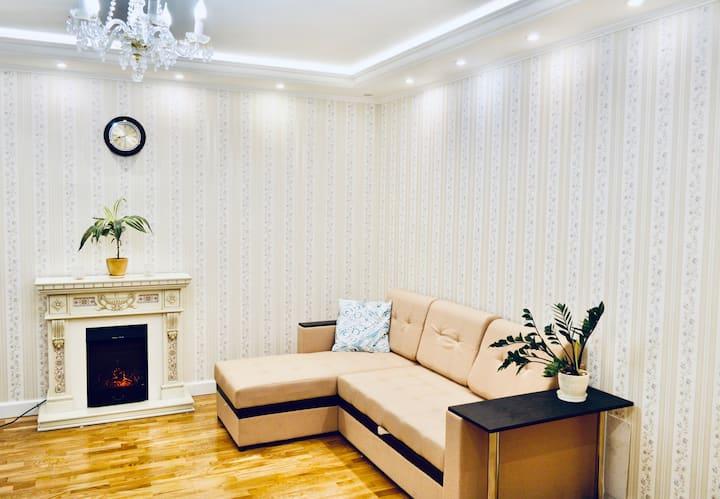 Комфортные  и просторные апартаменты с камином 98м
