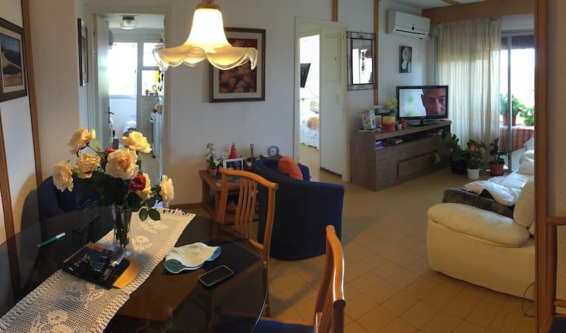 Living completo con mesa y sillón